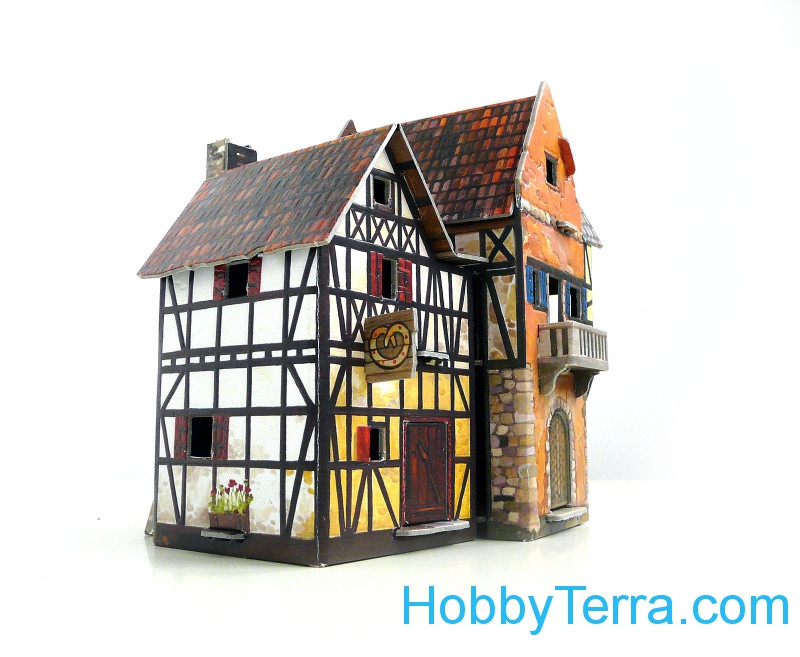 "Game Set. ""Medieval City"" - Bakery, paper model"