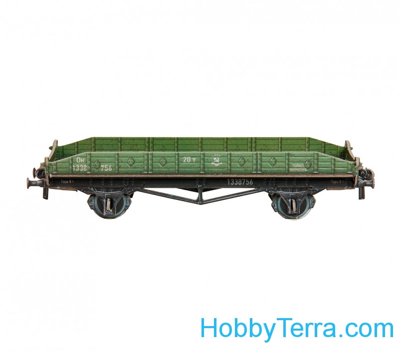 Umbum  304 Platform two-axle 20 t, paper model