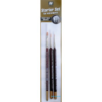 Brushes set with triangular handle, 3 pcs