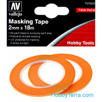 Masking tape 2mm x 18m, 2 pcs