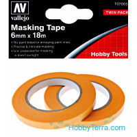 Masking tape 6mm x 18m, 2 pcs