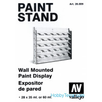 Paint stand. Wall Mounted Paint Display, 28x35/60ml