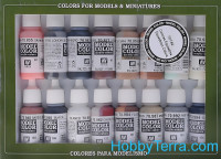 "Model Color Set ""Equestrian Colors"", 16pcs"
