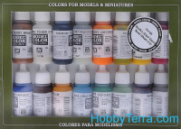 "Model Color Set ""Naval (Steam Era)"", 16pcs"
