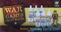 "Paints Set ""British infantry War Games"", 6x17ml"