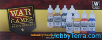 "Paints Set ""Infantry Basic War Games"", 8x17ml"