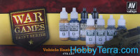 "Paints Set ""Vehicle Basic WWII War Games"", 8x17ml"