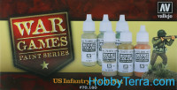 "Model Color Set ""US Infantry War Games"", 6pcs"