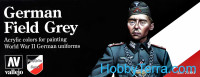 Model Color Set. German field grey. German uniform WWII, 8pcs