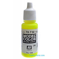 Model Color 17ml. 206-Yellow Fluorescent