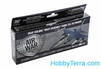 "Mode Air Set ""USAF Colors ""Gray Schemes"" from 70's to present"", 8pcs"