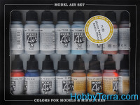 "Model Air Set ""Metallic effects"", 16pcs"