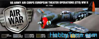 Model Air Set. US Army Air Corps European Theater Op. (ETO) WWII, 8pcs