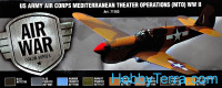 "Model Air Set. ""US Army Air Corps Mediterranean Theater Op. (MTO) WWII"", 8pcs"