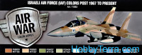 "Model Air Set. ""Israeli air force (IAF) Color Post 1967 to Present"", 8pcs"