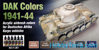 "Paint Set. ""D.A.K. colors 1941-1944"", 6 pcs"
