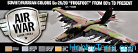 "Paint Set. Air Soviet/Russian colors Su-25/39 ""Frogfoot"" from 80's to present, 8pcs"