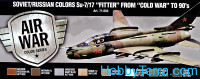"Paint Set. Air Soviet/Russian colors Su-7/17 ""Fitter"" from ""Cold War"" to 80's, 8pcs"