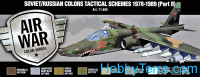 Paint Set. Air Soviet/Russian colors Tactical Schemes 1978-1989 (Part II), 8pcs