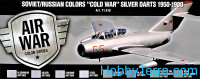 "Paint Set. Air Soviet/Russian colors ""Cold War"" Silver Darts 1950-1980, 8pcs"