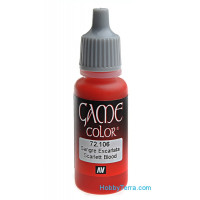 Game Color 17ml. 106-Scarlett blood