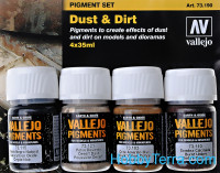 Pigments Set. Dust & Dirt, 4pcs