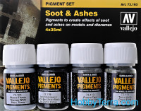 Pigments Set. Soot & Ashes, 4pcs