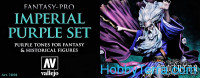 Paint Set. Imperial Purple Tones Fantasy-Pro, 8 pcs