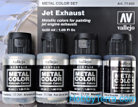 Metal Color Set. Jet Exhaust, 4 pcs