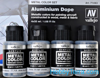 Metal Color Set. Aluminium Dope, 4 pcs