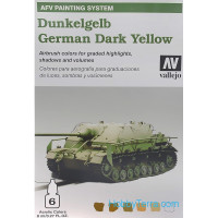 AFV Dunkelgelb German Dark Yellow 6*8ml