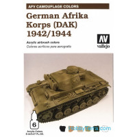 AFV German afrika korps 1941/44 (DAK), 6x8ml