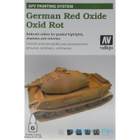 AFV German red oxide 6x8ml