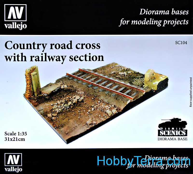 Vallejo  SC104 Country road cross with railway section