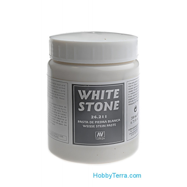 Earth effects, White Stone Paste, 200 ml