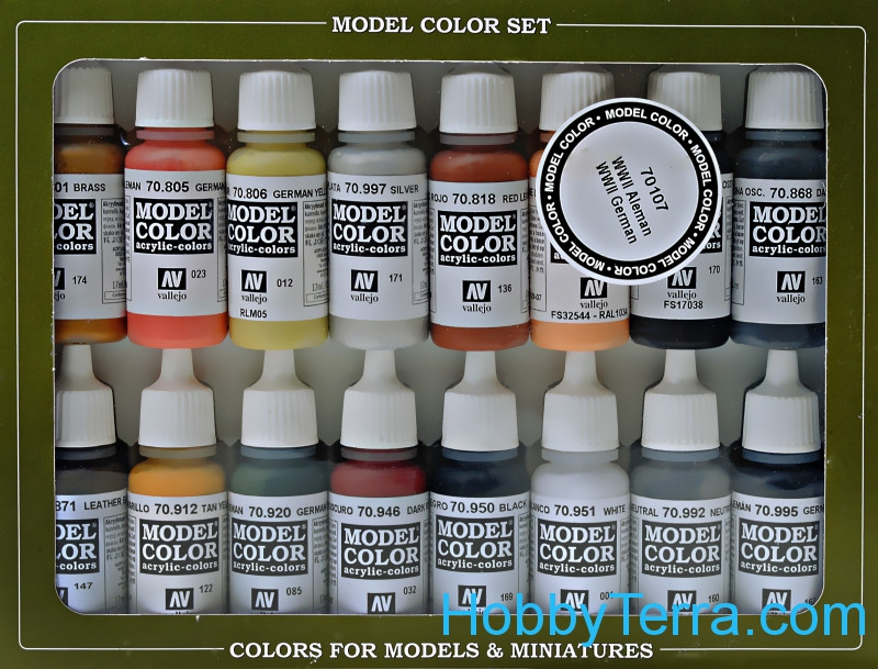 "Model Color Set ""WWII German"", 16x17ml"