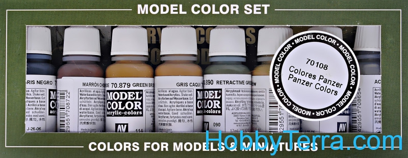 "Model Color Set ""Panzer Colours"",8 pcs"