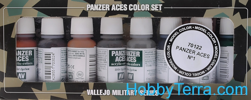 "Model Color Set ""Panzer Aces"" #1, 8pcs"