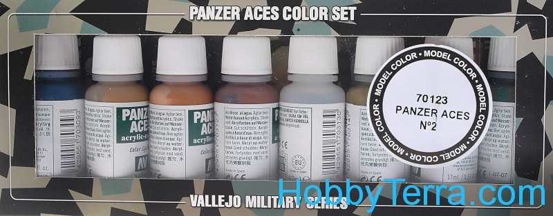 "Model Color Set ""Panzer Aces"" #2, 8pcs"