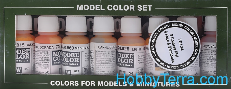 "Model Color Set ""Face & Skintones"", 8pcs"