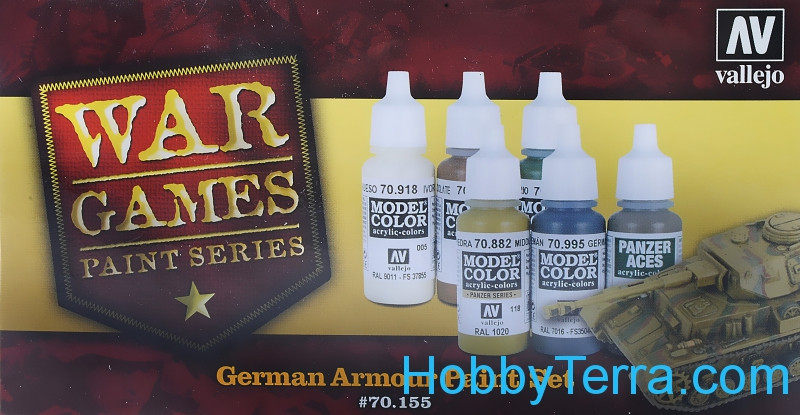 "Paints Set ""German armour War Games"", 6x17ml"