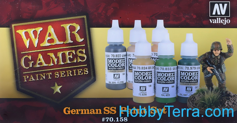 "Paints Set ""German SS War Games"", 6x17ml"