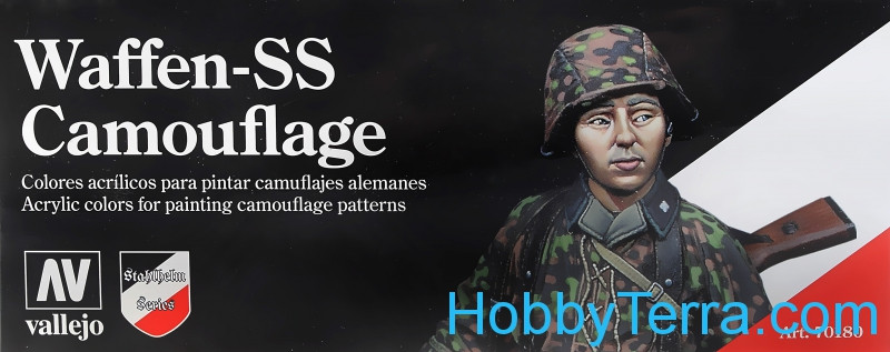 "Model Color Set ""Waffen SS Camouflage"", 8pcs"