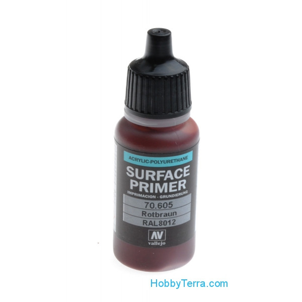 Vallejo  70605 Surface Primer 17ml. German Red Brown RAL 8012