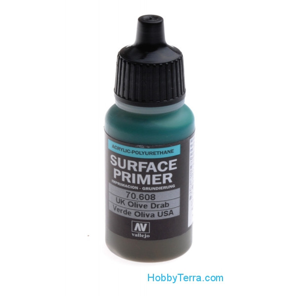 Vallejo  70608 Surface Primer 17ml. U.S. Olive Drab