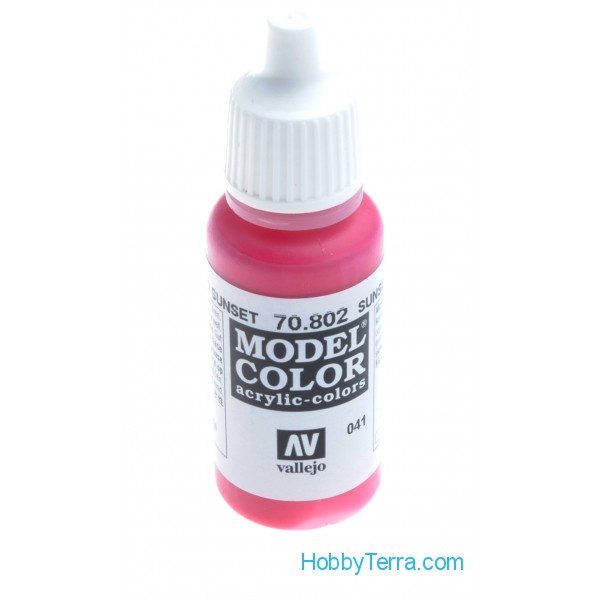 Vallejo  70802 Model Color 17ml. 041- Sunset Red