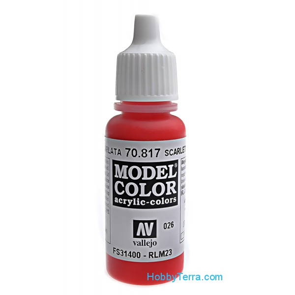 Vallejo  70817 Model Color 17ml. 026-Scarlet