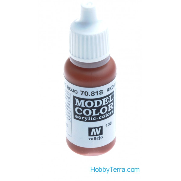Vallejo  70818 Model Color 17ml. 136-Red leather
