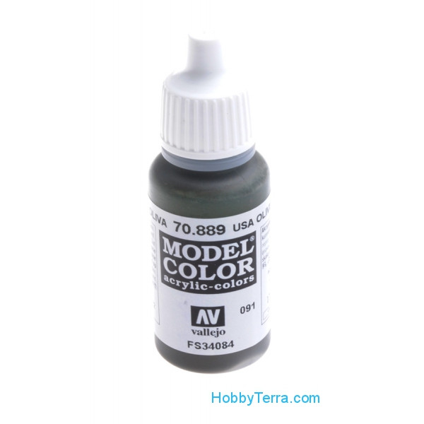 Model Color 17ml. 091-US olive drab