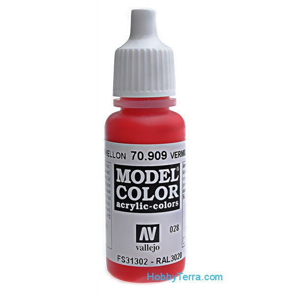 Vallejo  70909 Model Color 17ml. 028-Vermillion